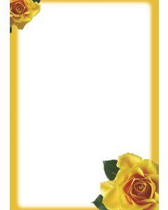 Briefpapier gelbe Rosen