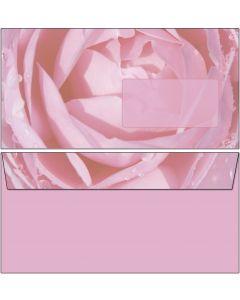20 Briefumschläge rosa Rose mit Regentropfen DIN lang ohne Fenster