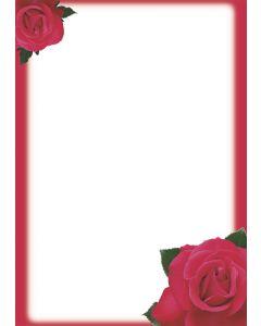 Briefpapier rote Rosen