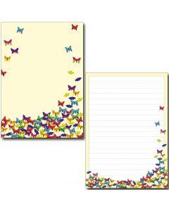 Schreibblock bunte Schmetterlinge DIN A5