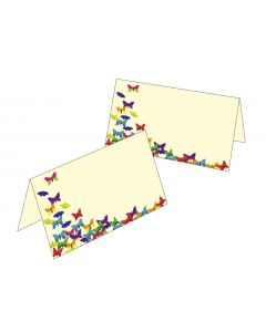 Tischkarten bunte Schmetterlinge