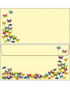 Briefumschläge bunte Schmetterlinge