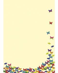 Briefpapier bunte Schmetterlinge