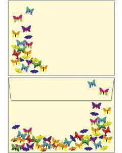 Briefumschläge C6 - bunte Schmetterlinge