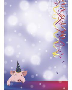 Briefpapier Party Schweinchen - Glücksbringer