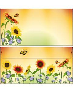 Briefumschläge Sonnenblumenfeld