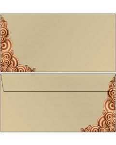 Briefumschläge Kreise im modernen Vintage-Stil