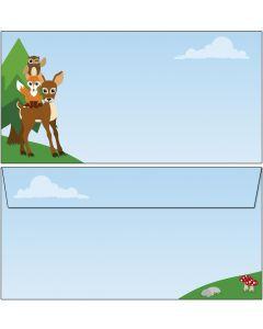 Briefumschläge Waldtiere