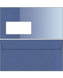Briefumschläge blau / hellblau mit Punkten DIN lang