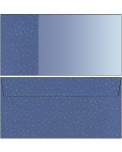 Briefumschläge blau / hellblau mit Punkten