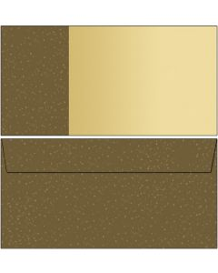 Briefumschläge braun / beige mit Punkten