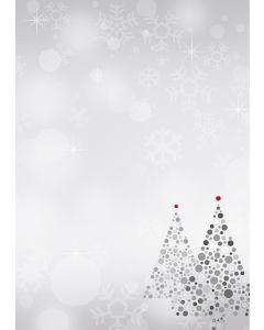 Briefpapier Weihnachtsbaum grau / rot