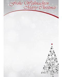 Briefpapier Merry Christmas Weihnachtsbaum