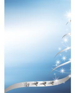Briefpapier silber-star Weihnachtsbaum