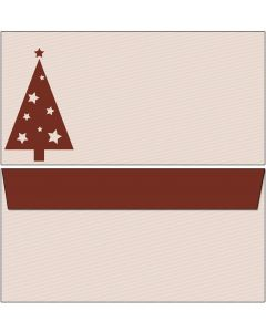 Briefumschläge rot/brauner Weihnachtsbaum