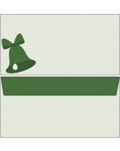 Briefumschläge grüne Weihnachtsglocke