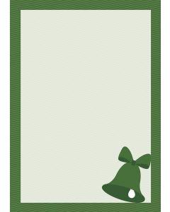 Briefpapier grüne Weihnachtsglocke