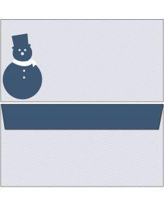 Briefumschläge schlichter blauer Schneemann