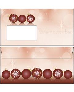 Briefumschläge rote Christbaumkugeln DIN lang
