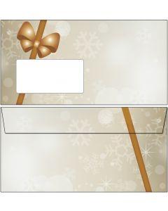 Briefumschläge Weihnachten Päckchen / Geschenk DIN lang mit Fenster