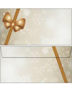 Briefumschläge Weihnachten Päckchen / Geschenk DIN lang ohne Fenster