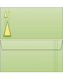 Briefumschläge PopArt grüne Tanne