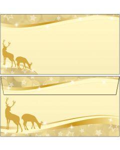weihnachtliche Rehe gold