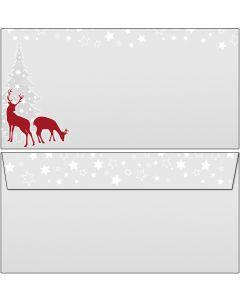 Briefumschläge weihnachtliches rotWild