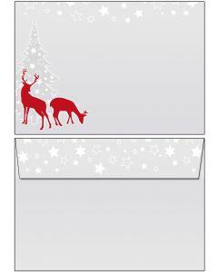 Briefumschläge C6 - Weihnachten  rotWild
