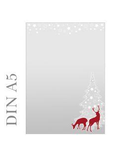 Briefpapier weihnachtliches rotWild DIN A5