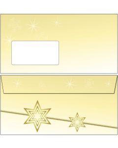 Briefumschläge Weihnachten gelbe Sterne DIN lang