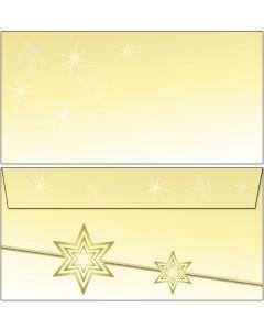 Briefumschläge Weihnachten gelbe Sterne