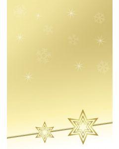 Briefpapier gelbe Weihnachtssterne