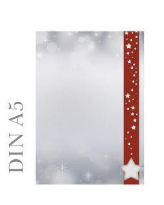 Weihnachtssterne im roten Banner DIN A5