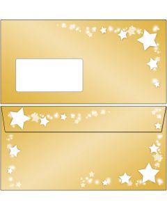 Briefumschläge Sterne auf Goldrahmen