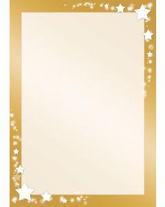 Weihnachten - Sterne auf Goldrahmen