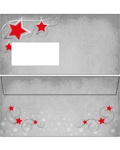 Kuverts Weihnachten Symphonie der roten Sterne