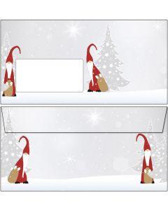 Briefumschläge Weihnachtswichtel mit Fenster