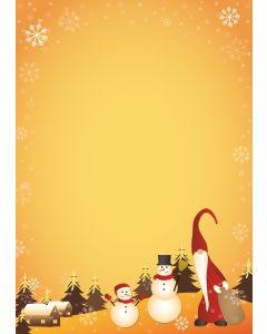 Weihnachtswichtel und Schneemann