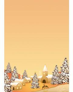 Briefpapier weihnachtliches Winterdorf