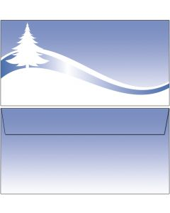 Briefumschläge blaue Winterlandschaft