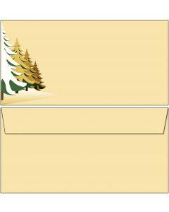 Briefumschläge gelbe Winterlandschaft DIN lang