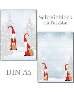 Schreibblock Weihnachtswichtel