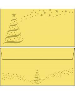 Briefumschläge Weihnachten gold-star