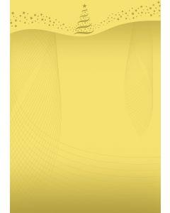 Briefpapier gold-star Weihnachtsbaum