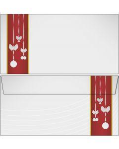 Briefumschläge Weihnachtsschmuck im roten Banner