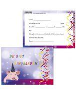 Einladungskarten Party-Sau