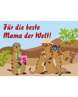 """Erdmännchen Muttertag  """"Für die beste Mama der Welt"""""""