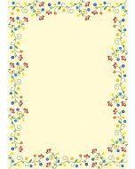 Briefpapier Blütenzauber Vintage