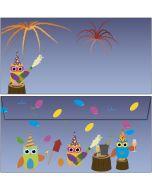 Briefumschläge Eulen Party Silvester